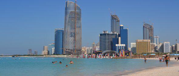 Clima Abu Dhabi - Spiaggia nel mese di  Novembre