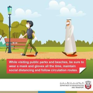Public beaches and parks in the Abu Dhabi Emirate